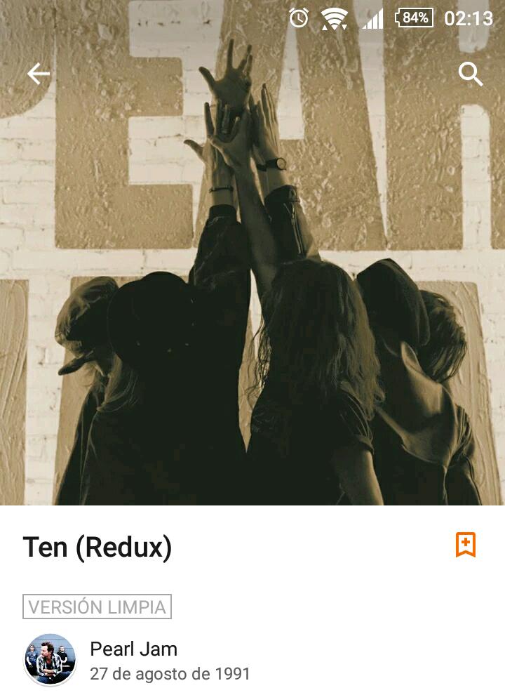 Google Play. Album Ten (Redux) de Pearl Jam Versión Limpia Gratis