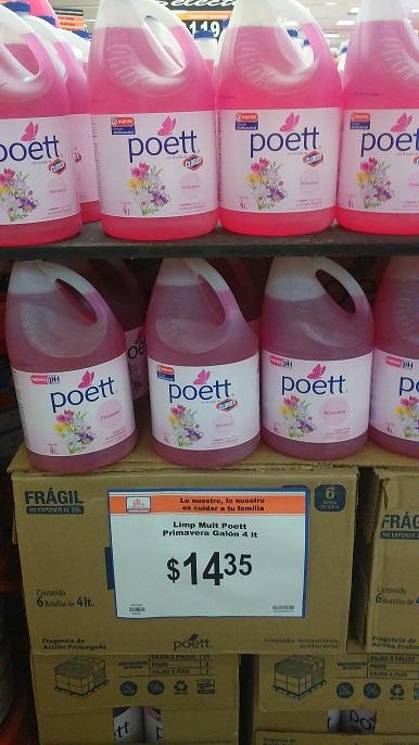 CHEDRAUI INTERLOMAS: limpiador Poett 4 lts. a $14.35
