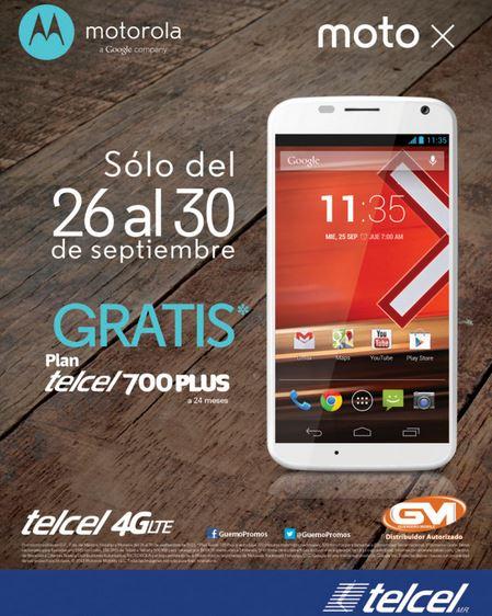 Telcel: Moto X gratis en plan de $699 (R9) o a $1,749 en plan de $399
