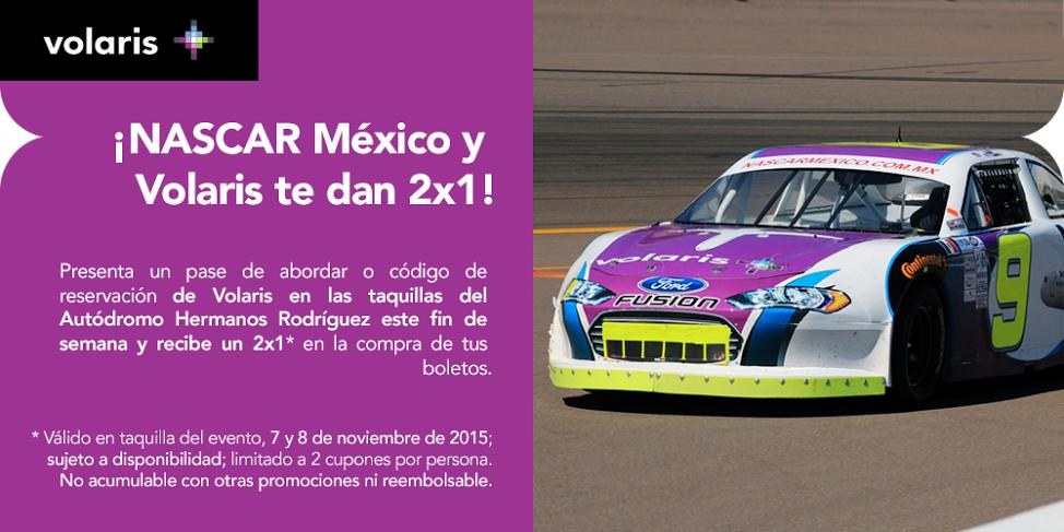 Volaris: 2x1 en boletos para NASCAR