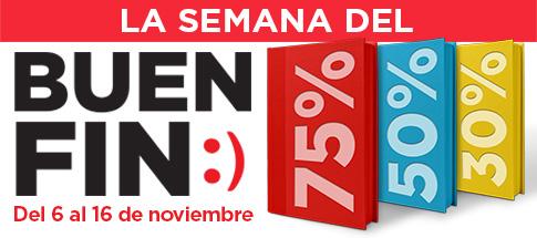 Promociones del Buen Fin 2015 en Librerías Porrua
