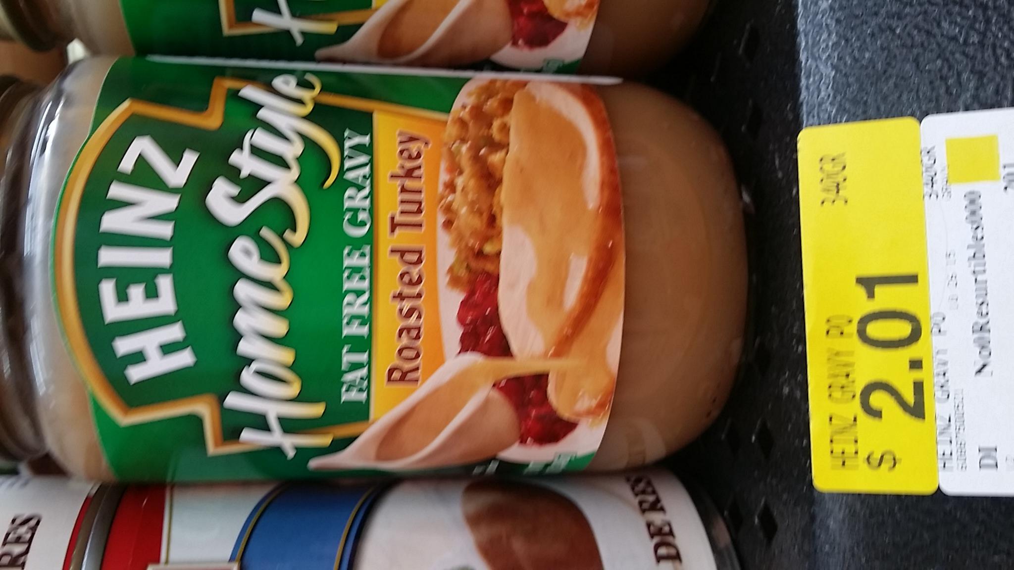 Walmart Patio Santa Fé:  Salsa Gravy Heinz $2.01