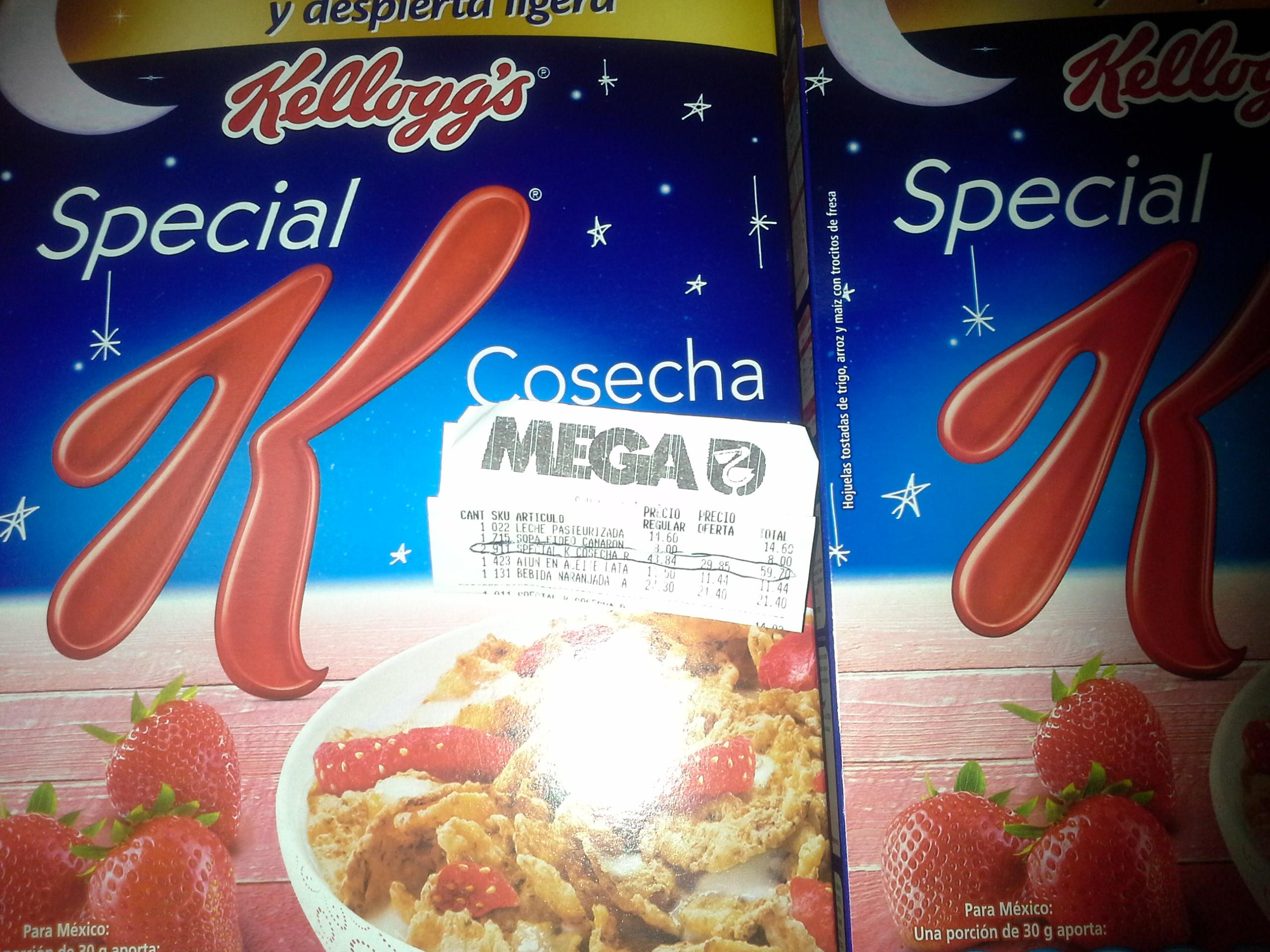 La Comer: Cereal Special K de $43.84 a $29.85 y la segunda a mitad de precio
