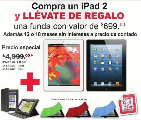 Office Depot: iPad 2 $4,999 con funda de regalo y 12 meses sin intereses.
