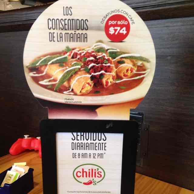 Chili's Desayunos en $74 (lunes a domingo)