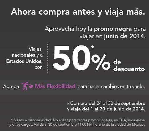 Volaris: 50% de descuento para vuelos en junio 2014