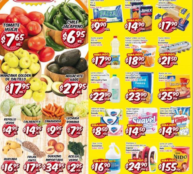 HEB frutas y verduras del 24 al 26 de septiembre: tomate $7.65, aguacate $27.95 y más
