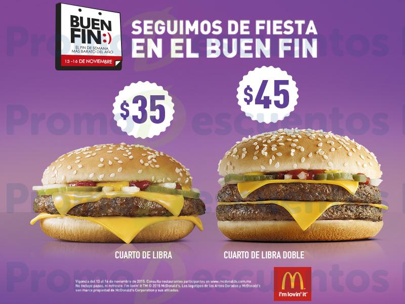 Promociones del Buen Fin 2015 en McDonald's