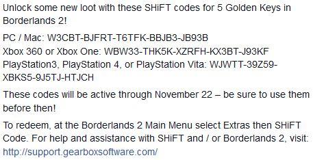 Borderlands 2: 5 Nuevas llaves doradas para abrir tesoros legendarios...