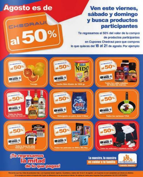 Chedraui: ofertas con 50% de bonificación del 15 al 17 de agosto (actualizado)