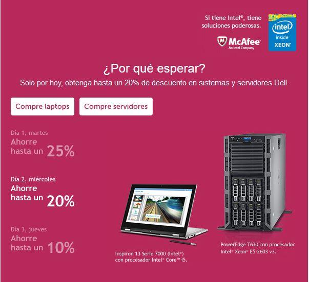 Dell Store, hasta 25% de descuento