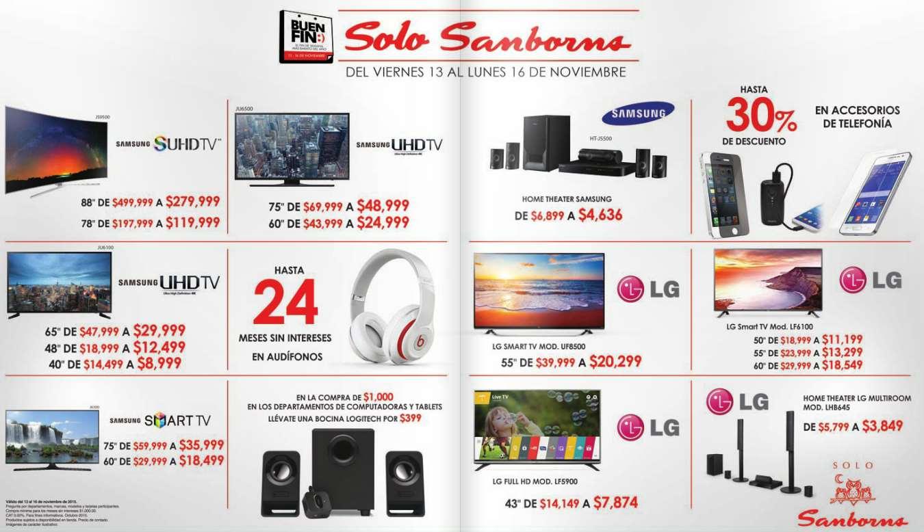 Promociones del Buen Fin 2015 en Sanborns