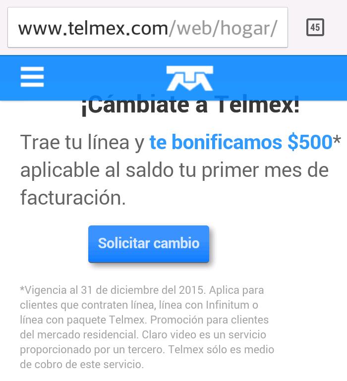 Telmex: $500 de bonificación al portar tu línea a Telemex