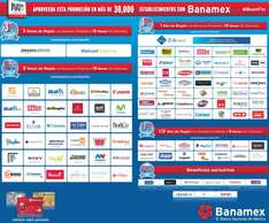 Promociones del Buen Fin 2015 con Banamex: lista de tiendas con 1, 2 y 3 meses de bonificación