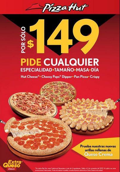 Pizza Hut: todas las pizzas todos los días a $149