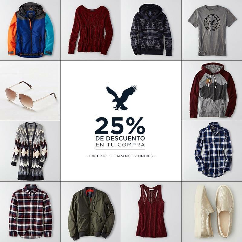 Promociones del Buen Fin en American Eagle: 25% de descuento en toda la tienda y más