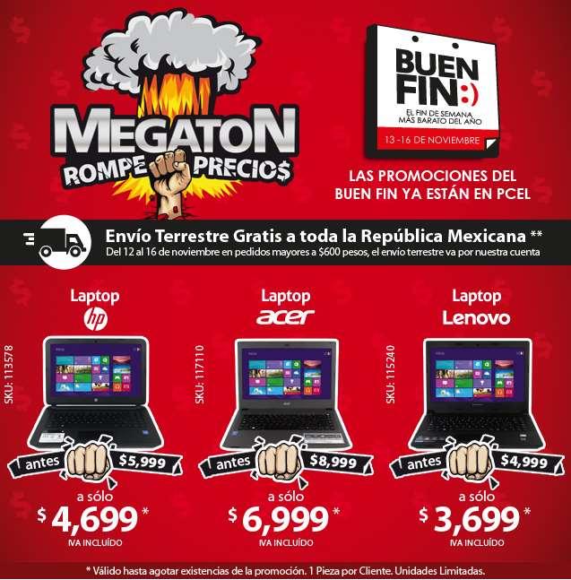 "PCEL: Megatón de Ofertas del Buen Fin 2015, ejem Laptop Lenovo B40-45 $3,699, LED TV 42"" $5,999"