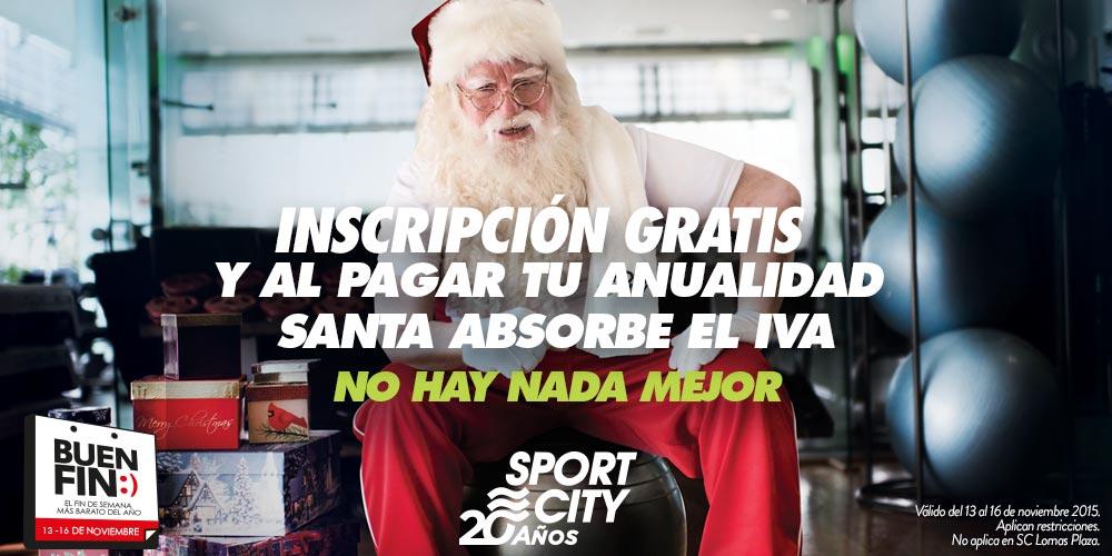 Promoción del Buen Fin Sport City: Membresía gratis y descuento de IVA en anualidad
