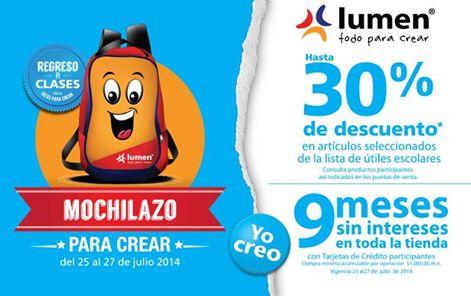 Lumen: promociones de regreso a clases