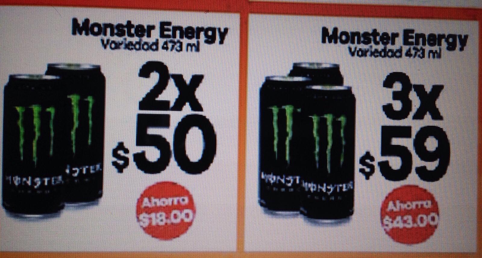 Monster Energy 3 x $59, 7Eleven  (Tambein uno que otro buen descuento en Cervezas :P )