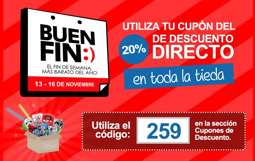 Buen Fin en la Dreamstore de Disney 20% de Descuento Directo