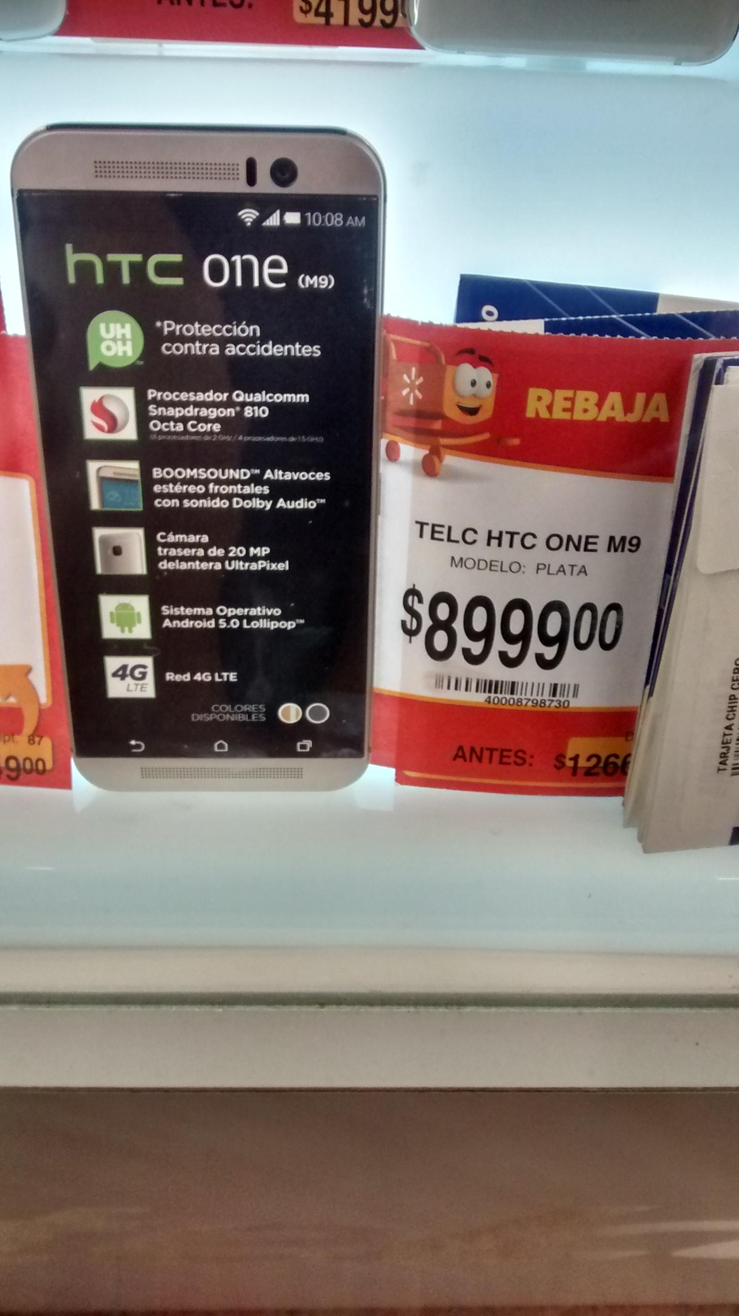 Walmart: HTC One M9 $8,999 y hasta 24 MSI con Banamex