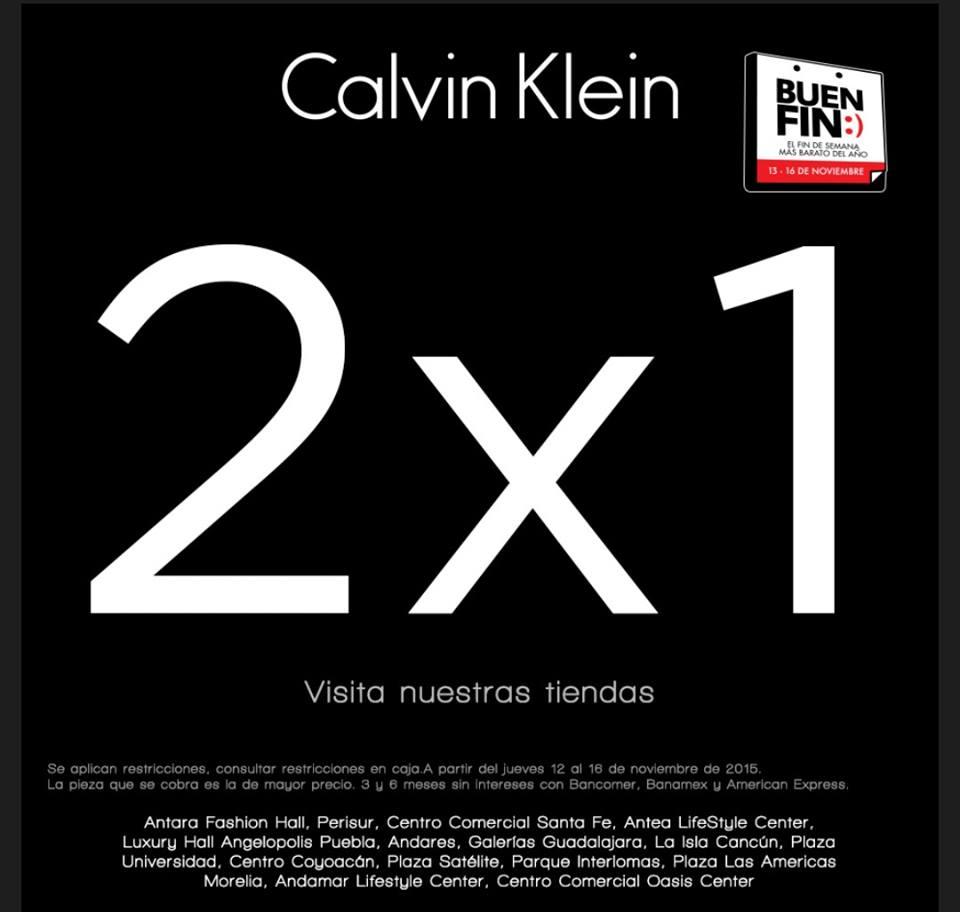 Promoción del Buen Fin: 2x1 y 3x2 Calvin Klein Underwear