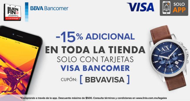 El Buen Fin en Linio: 15% de descuento en todo con Bancomer (también tienda online)