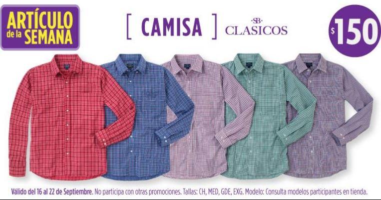 Artículo de la semana Suburbia: camisa manga larga $150