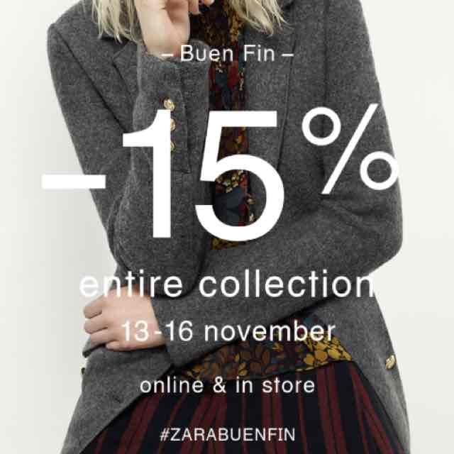 Buen Fin Grupo Inditex (Zara, Bershka...): 15% descuento y más