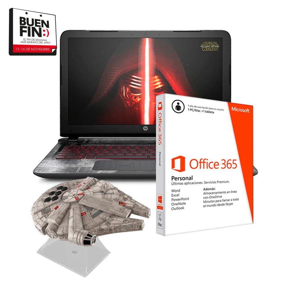 El Buen Fin en Walmart: Laptop HP Star Wars + bocina a $15,999 ($13,332.5 con Banamex)