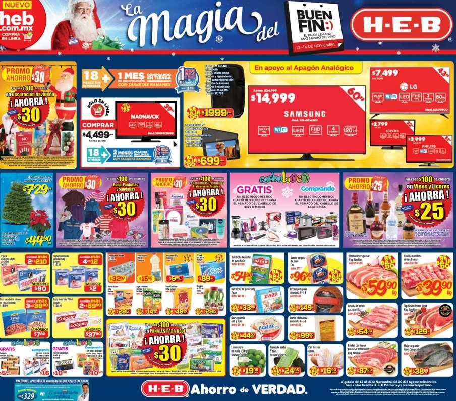 Promociones del Buen Fin 2015 en HEB