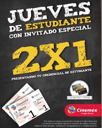Cinemex: 2x1 para estudiantes con tarjeta de IE