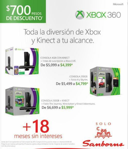$700 de rebaja en consolas Xbox 360