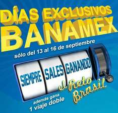 Días Banamex del 13 al 16 de septiembre en Aeroméxico, Best Buy, Liverpool y más