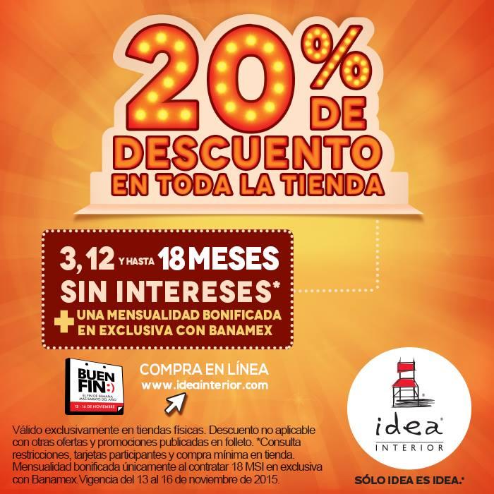 Tienda Idea: 20% de descuento en toda la tienda