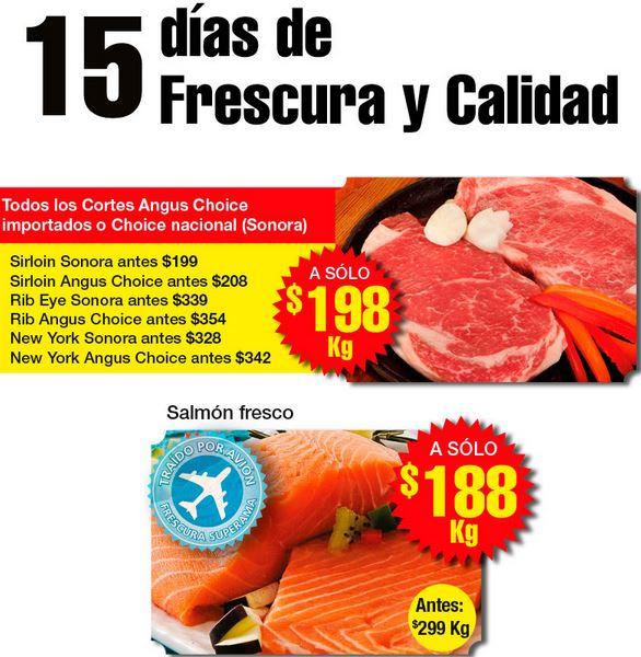 Superama: todos los cortes Angus Choice $198 y filete de salmón $188