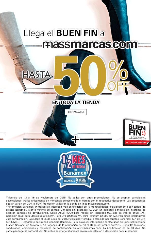 Promociones El Buen Fin en Massmarcas: hasta con 50% de descuento en toda la tienda