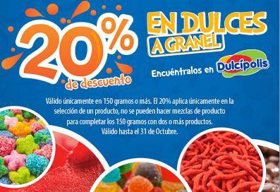 Cinépolis: 20% de descuento en dulces a granel