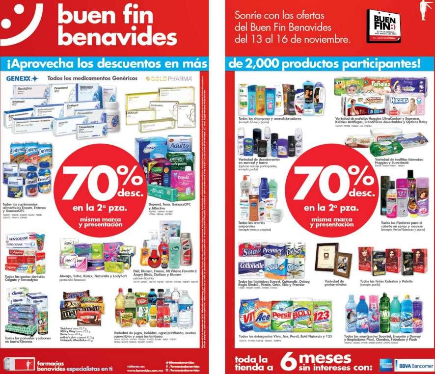 Promociones del Buen Fin 2015 en Farmacias Benavides
