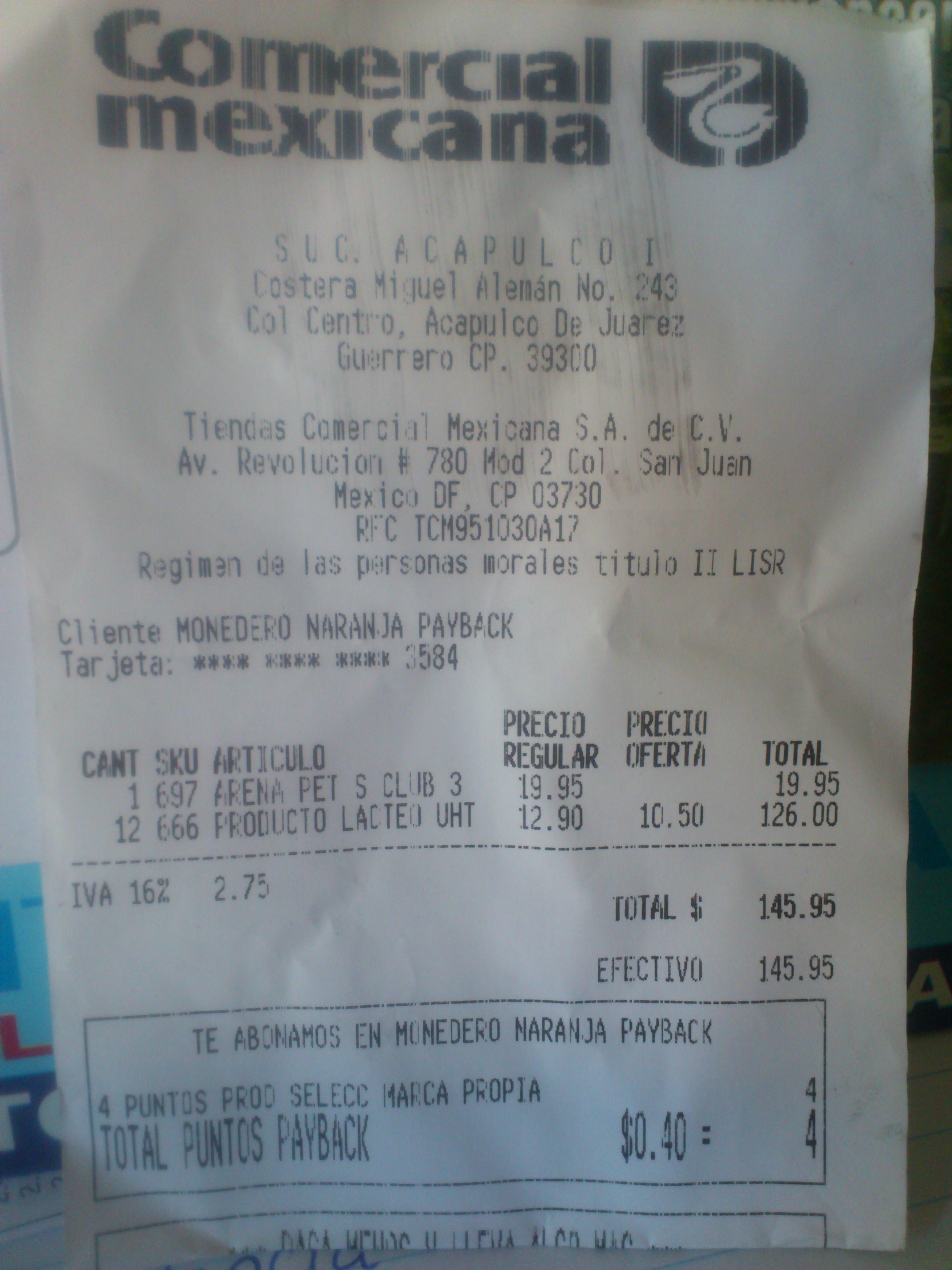 Comercial Mexicana Acapulco : NUTRI-LECHE $10.50