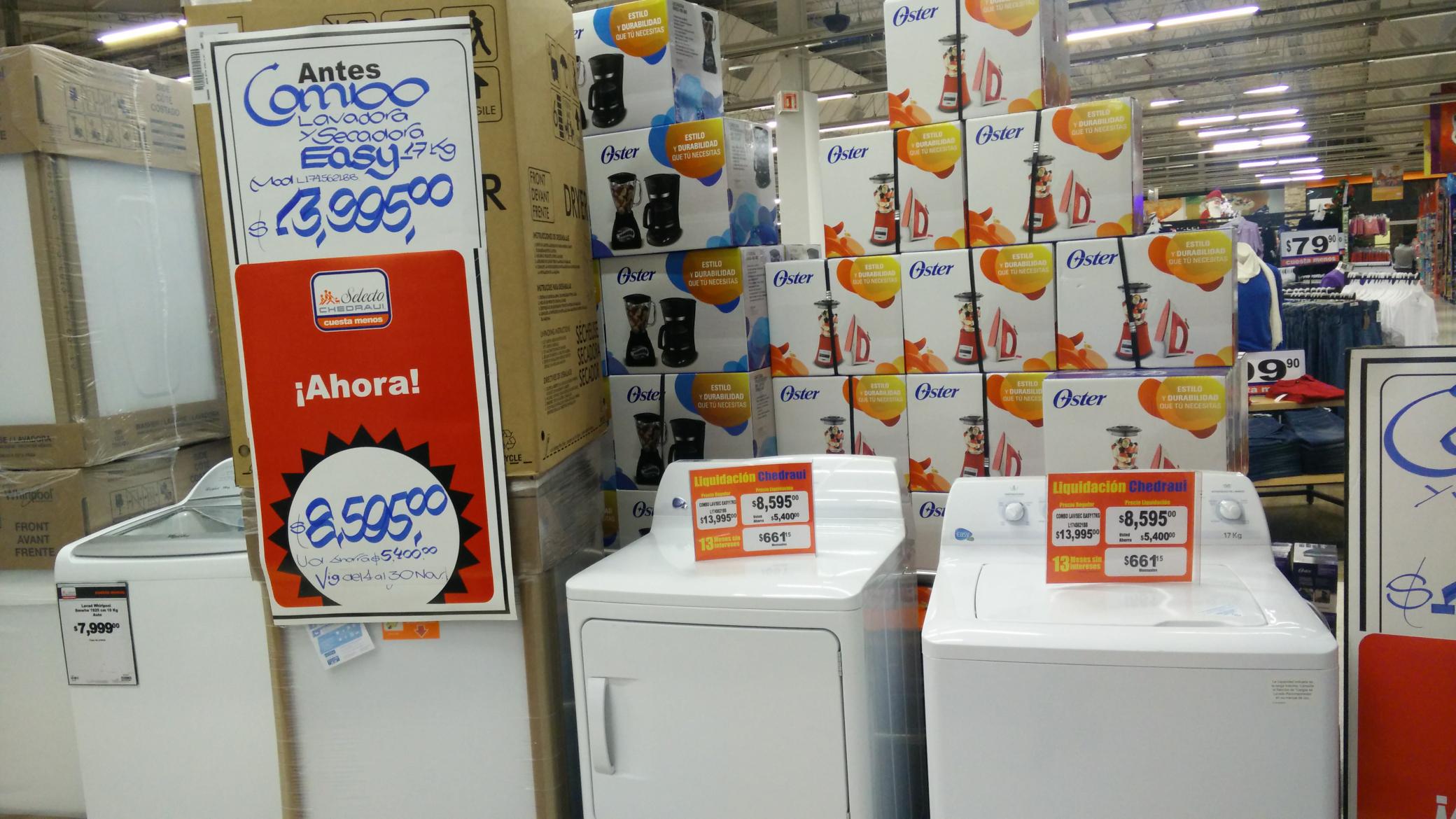 Chedraui: centro de lavado lavadora y secadora easy 17kg