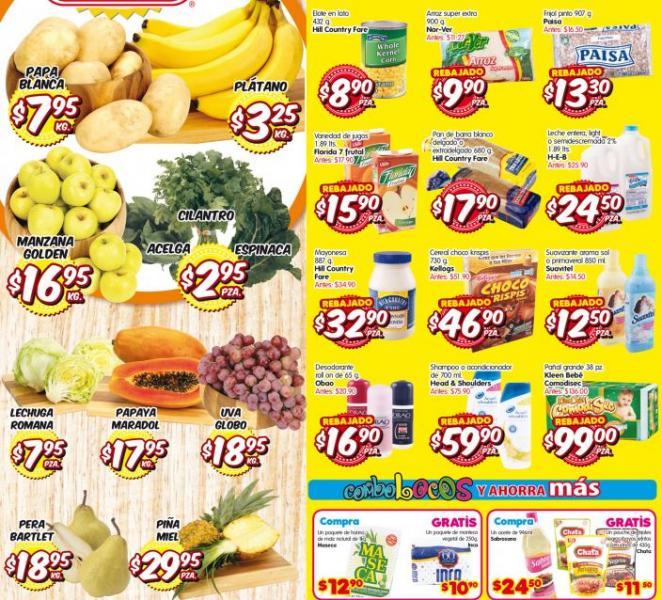 Frutas y verduras HEB del 10 al 12 de septiembre: plátano $3.25 el kilo y más