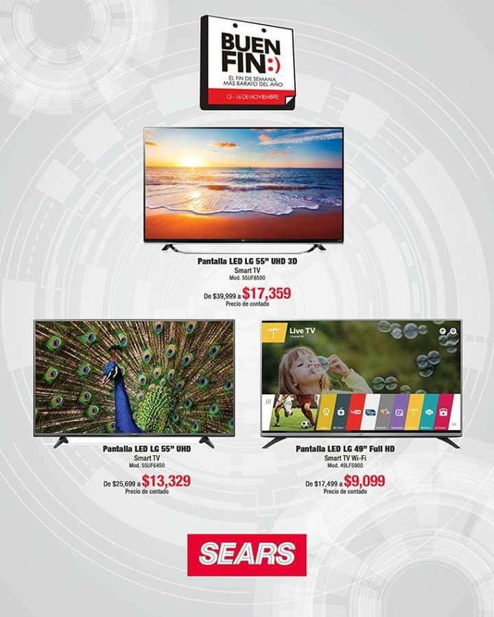 "Sears: pantalla LED LG 4K 55"" 55UF6450"