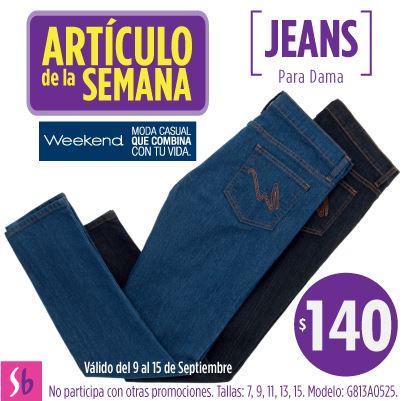 Artículo de la semana Suburbia: jeans para mujer $140