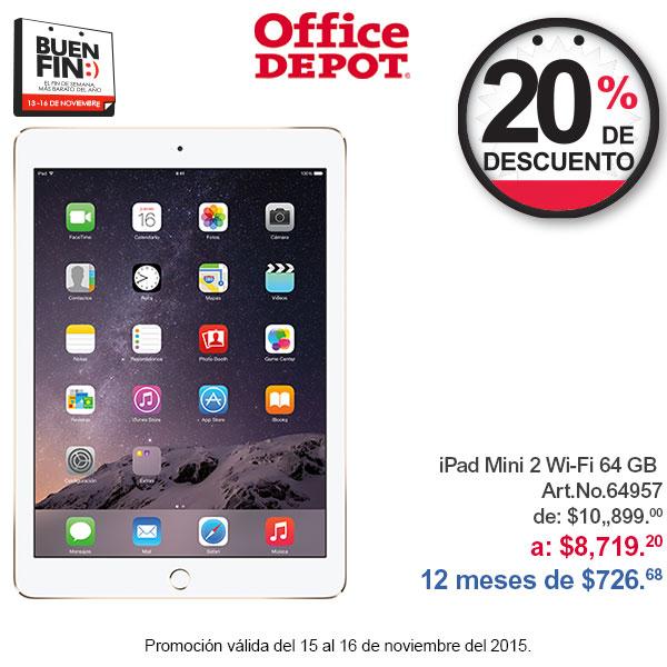 El Buen Fin en Office Depot: 20% de descuento en iPad y Mac (29% con Banamex, 24% con Banorte)