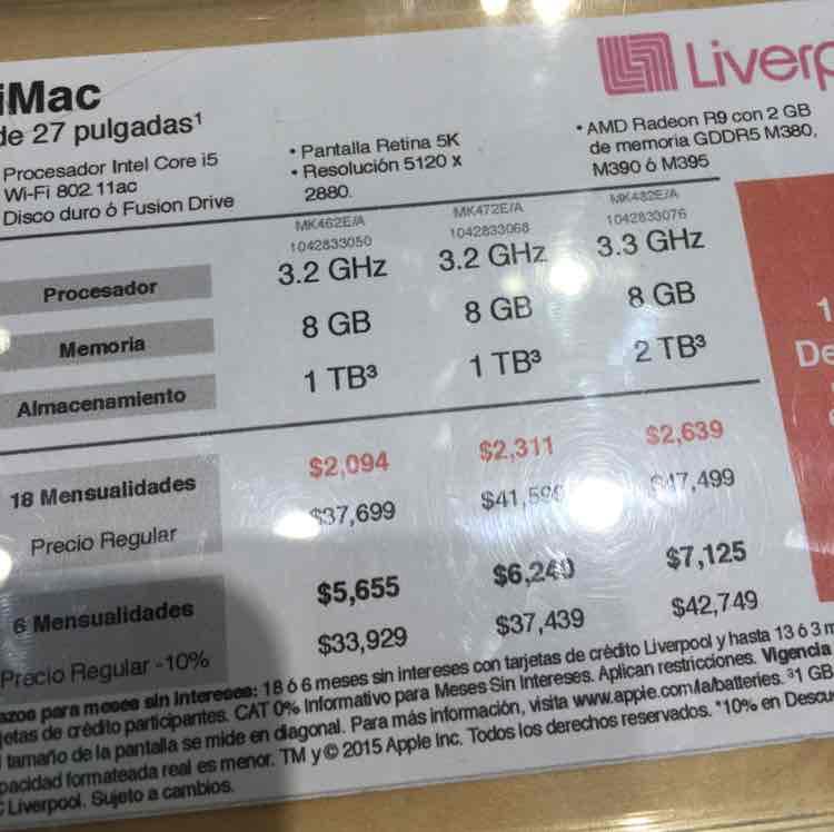 """Liverpool: iMac 27"""" 5K con 10% de descuento"""