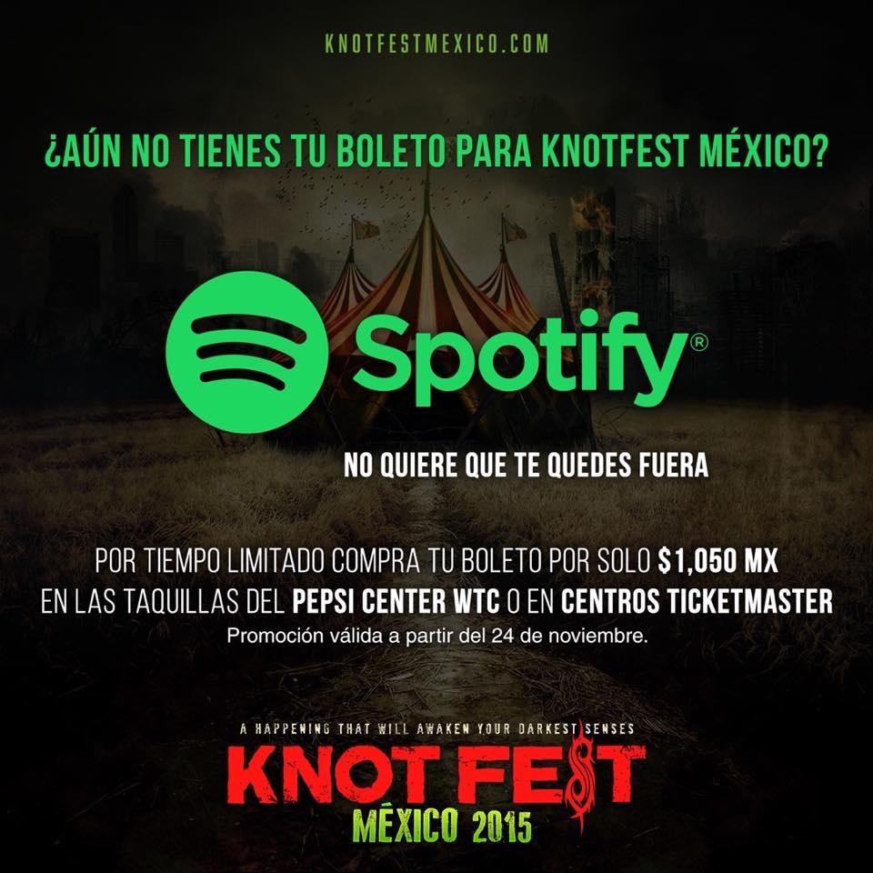 Knotfest: 30% de descuento
