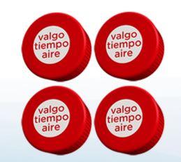 Agua Ciel: $20 de tiempo aire con 4 tapas marcadas
