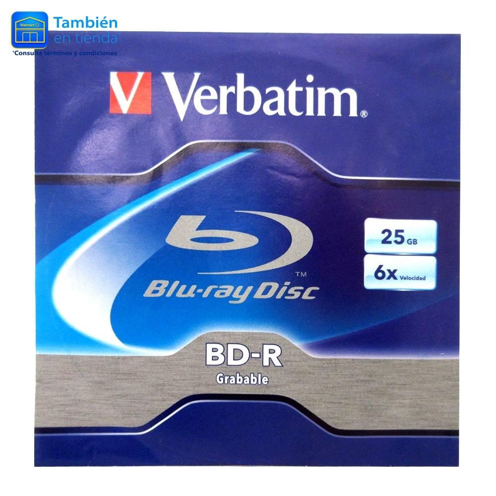 Walmart: Disco Blu-Ray Verbatim BD-R Grabable 25 GB en sobre WAL-MART + Envio Gratis